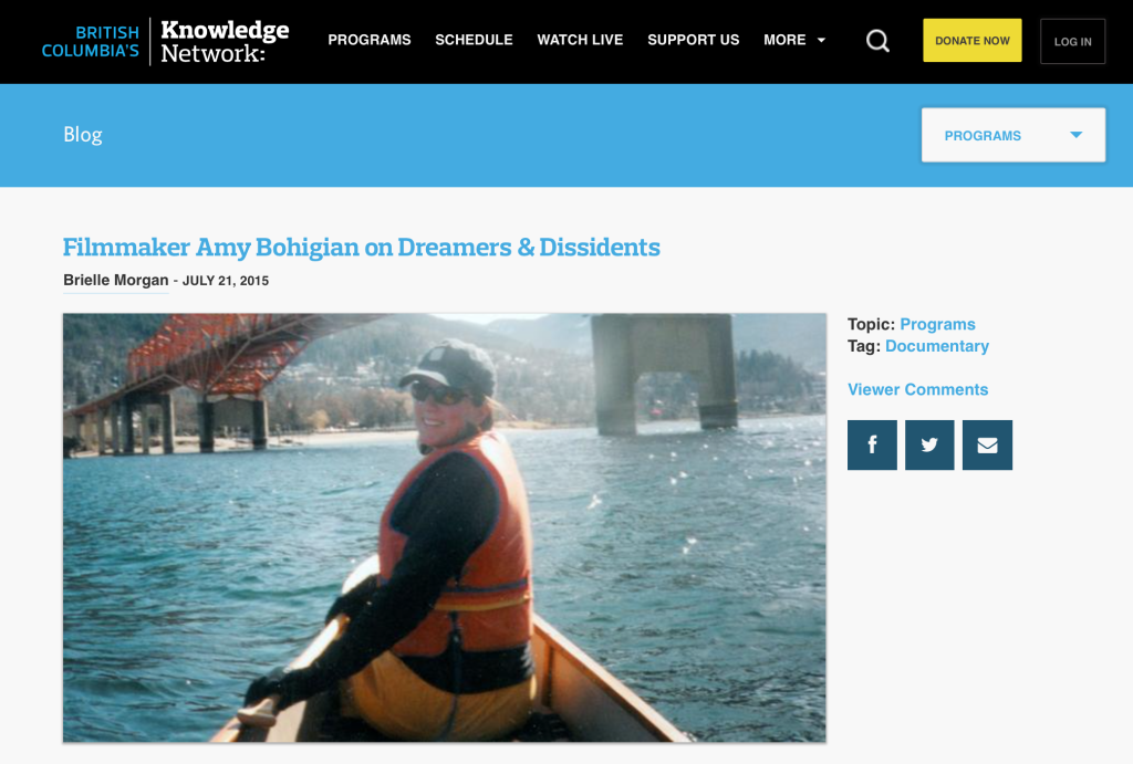 Dreamers and Dissidents – Interview with Filmmaker