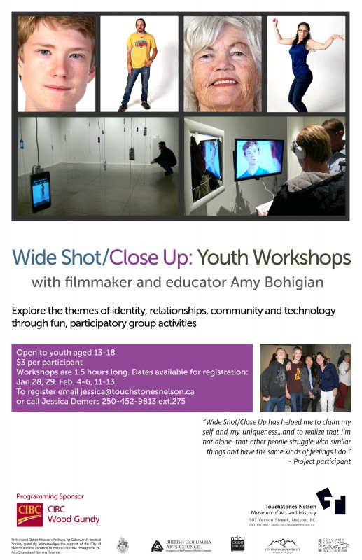 Workshops for Youth Offered at Touchstones/'Wide Shot/Close Up'