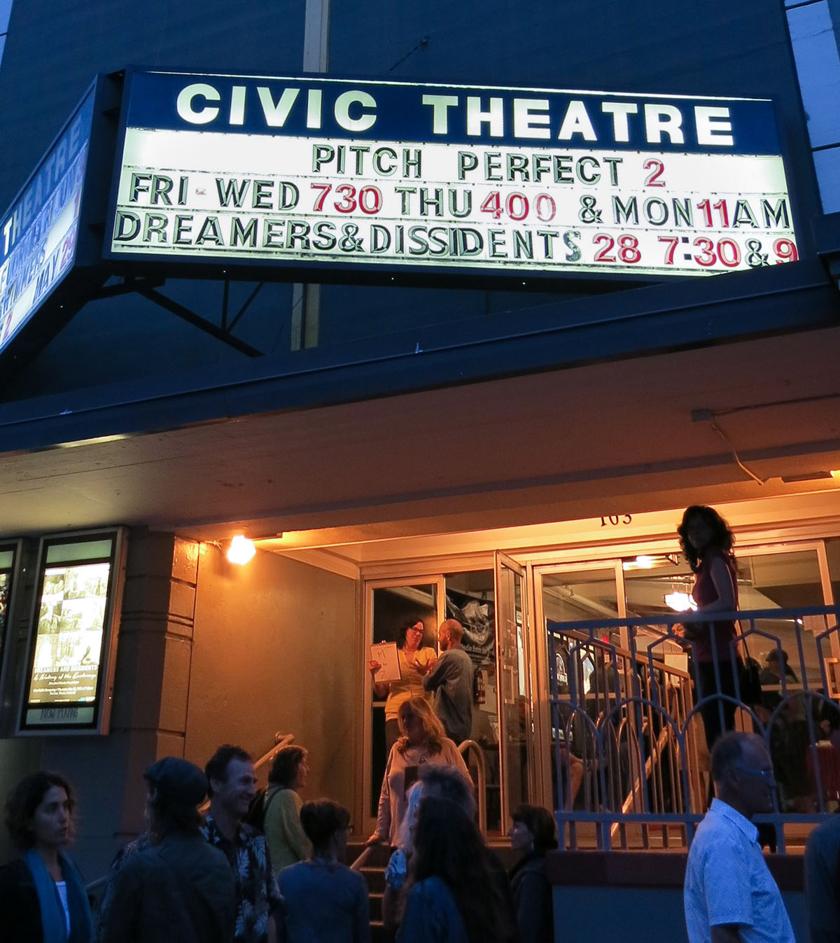 Premiere of Dreamers and Dissidents at the Civic Theatre